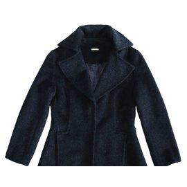 Max Mara-Manteaux, Vêtements d'extérieur-Gris anthracite