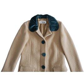 Chloé-Coats, Outerwear-Brown
