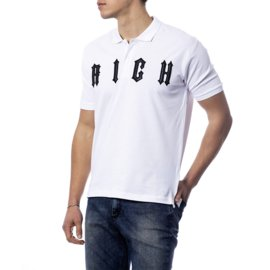 John Richmond-RICH JOHN RICHMOND WHITE NEW POLO SHIRT-White