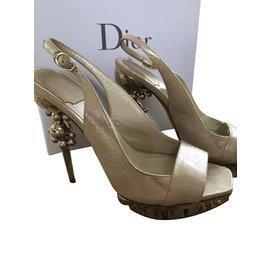 Dior-Chaussures Dior-Métallisé