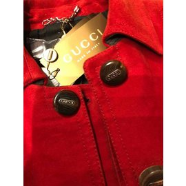 Gucci-Trench Gucci-Rouge