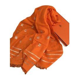 Hermès-Écharpe hermès-Orange