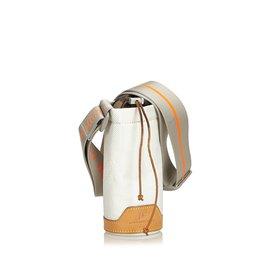 Louis Vuitton-Boitier de bouteille Damier Geant-Blanc,Multicolore