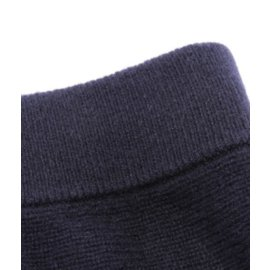 Chloé-Rib-knit midi cashmere skirt in navy blue-Black,Dark blue