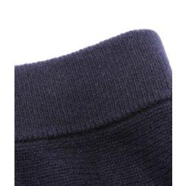 Chloé-Jupe midi en cachemire côtelée bleu marine-Noir,Bleu foncé