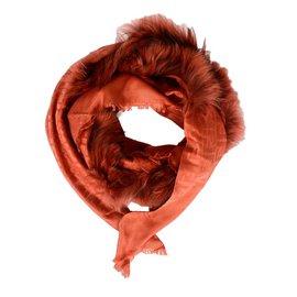 Fendi-Fendi foulard femme en laine et soie-Autre