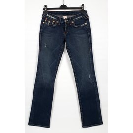True Religion-True Religion Jeans Taille W27 Billy Bootcut-Bleu