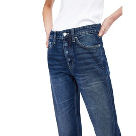 Zara-Jean ZARA Taille haute HIGH RISE, jambes droites, ankle length-Bleu