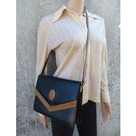 Yves Saint Laurent-Handbags-Black,Beige