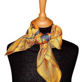 Hermès-CARRÉ en CARRÉS (soie Dip Dye)-Multicolore