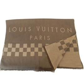 Louis Vuitton-Louis Vuitton Châle 100% cachemire-Marron