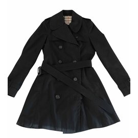 Burberry-Burberry trench size 40-Black