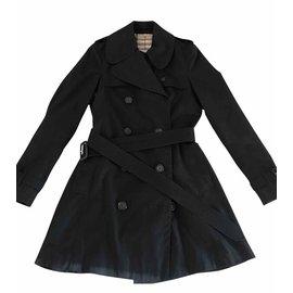 Burberry-Taille de tranchée Burberry 40-Noir