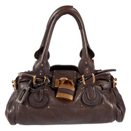 Chloé-Leather ''Paddington'' handbag-Brown
