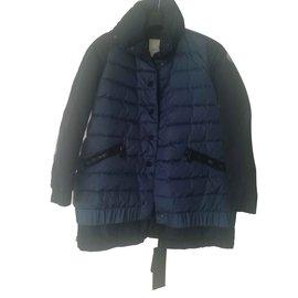 Moncler-Coats, Outerwear-Blue