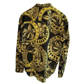 Versace-VERSACE JEANS MEN'S PRINTED SHIRT NEW-Multiple colors