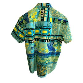 Versace-VERSACE JEANS MEN'S PRINTED SHIRT-Multiple colors