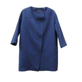 Balenciaga-Coats, Outerwear-Blue