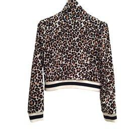 Maje-Perfecto-Blanc,Rouge,Imprimé léopard