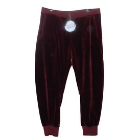Chloé-Chloé Burgundy velvet jogging trousers Terracotta-Dark red