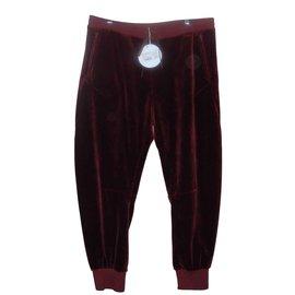 Chloé-Chloé pantalon jogging velours bordeaux Terracotta-Bordeaux