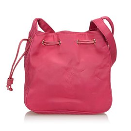 Yves Saint Laurent-Sac seau en nylon-Rose