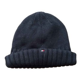 Tommy Hilfiger-Hats Beanies Gloves-Navy blue
