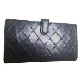 Chanel-portefeuilles-Noir