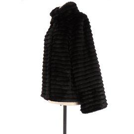 Balmain-Manteau-Noir