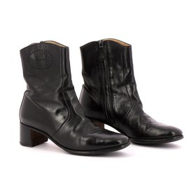 Hermès-Bottines / Low Boots-Noir