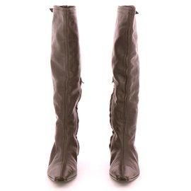 Hermès-boots-Chocolate