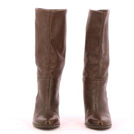 Balmain-boots-Brown