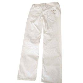 Chanel-jeans-Blanc cassé
