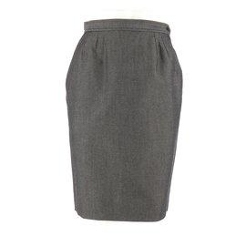 Yves Saint Laurent-Skirt suit-Black