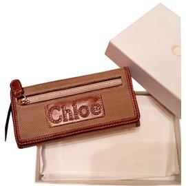 Chloé-portefeuilles-Beige