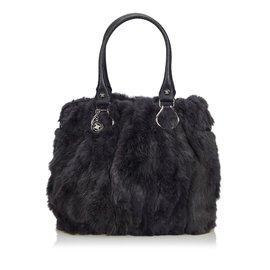 Céline-Fur Tote Bag-Other,Grey