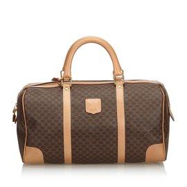Céline-Macadam Travel Bag-Brown,Beige,Dark brown