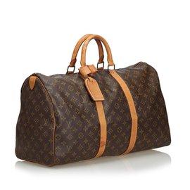 Louis Vuitton-Monogramme Keepall 50-Marron