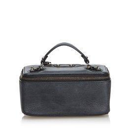 Balenciaga-Leather Vanity Box-Black