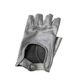 Chanel-Sublime silver Chanel mitt-Silvery