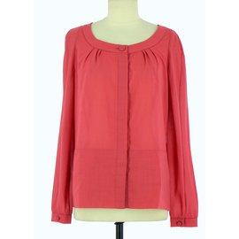 Chloé-Wrap blouse-Pink