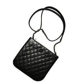 Chanel-Bourses, portefeuilles, cas-Noir