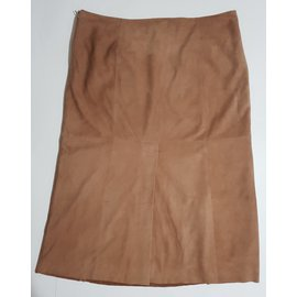 Max Mara-Jupes-Marron,Beige