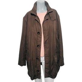 Burberry-Coats, Outerwear-Khaki