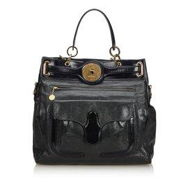 Balenciaga-Leather Tote Bag-Black,Green,Dark green