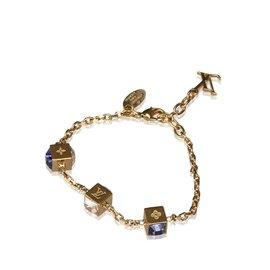 Louis Vuitton-Bracelet en cristal de jeu-Doré,Violet
