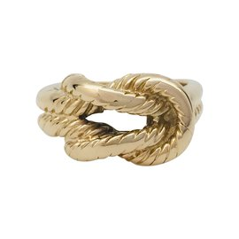 """Hermès-Hermès ring """"Audierne"""" in yellow gold.-Other"""