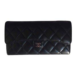 Chanel-Timeless Wallet-Black