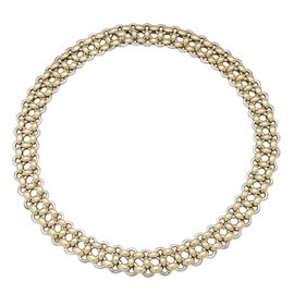 """Hermès-Collier Hermès, collection """"Inti"""", en or jaune et argent.-Autre"""