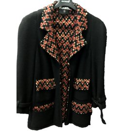 Chanel-Jacket without buttons-Black